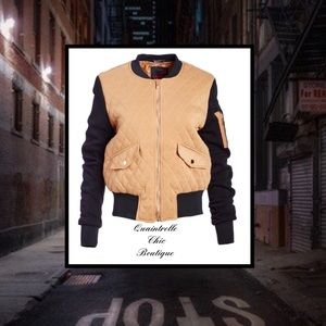 🎉HP🎉QUILTED VARSITY JACKET